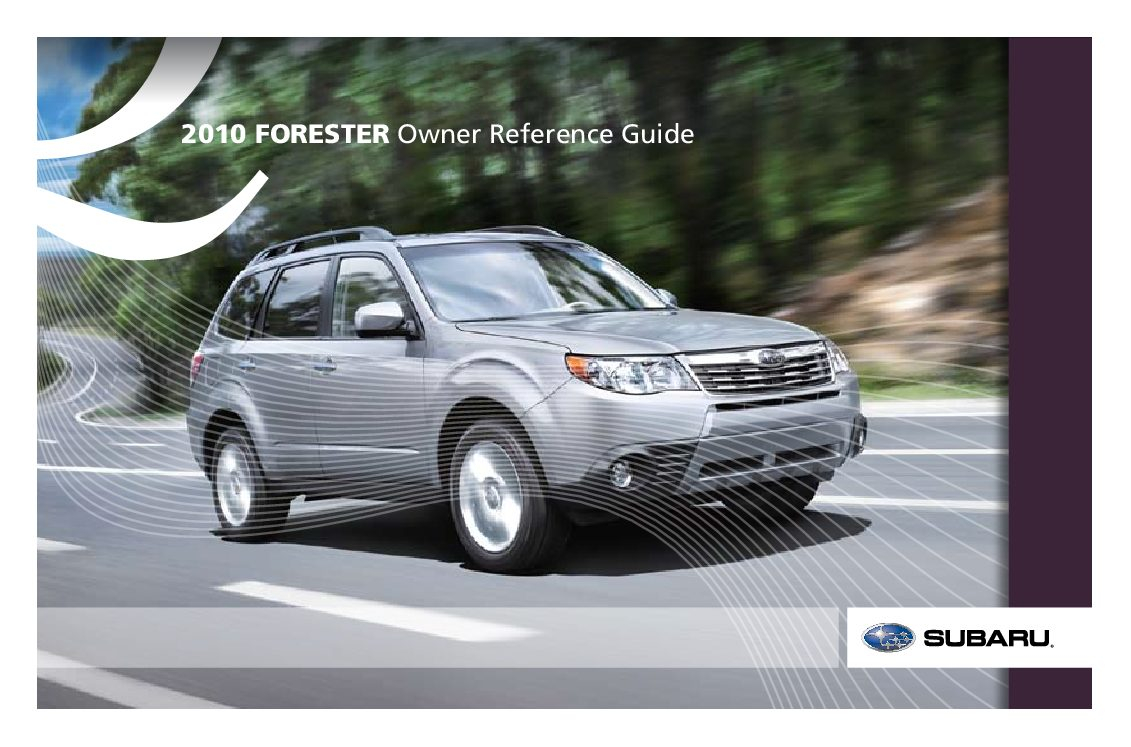 2010 Subaru Forester Owners Manual | Just Give Me The Damn - 2020 Subaru Forester Owners Manual